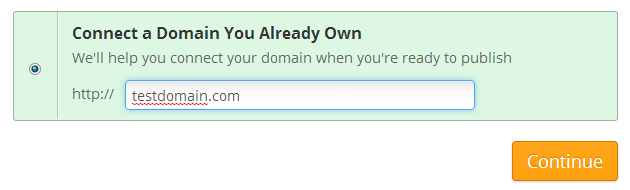 Weebly domain Chooser